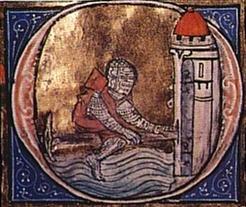 Lancelot crosses sword bridge