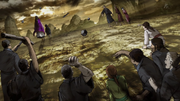 Ei Sei And Queen Mother Getting Hit With Stones By The People of Zhao anime S2