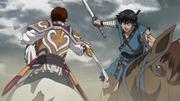 Rin Ko Stabs Shin's Leg anime S2