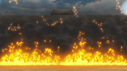 Kourou City's Easy Wall Set Ablaze anime S2