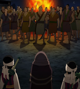 Kyou Kai, Kyou Elder And Kyou Shou Confronts The Group Of Villagers anime S1
