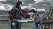 Ei Bi Bumps Shin's Chest With His Fist anime S2