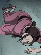 Kou Lies Down As She Is Injured anime S2