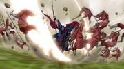 Ou Ki Crushes Through Chou Sou Army's Vanguard anime S1