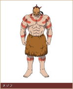 Tajifu Character Design anime S1