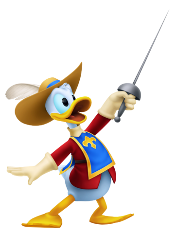 File:Donald Duck- Musketeer Outfit KH3D.png