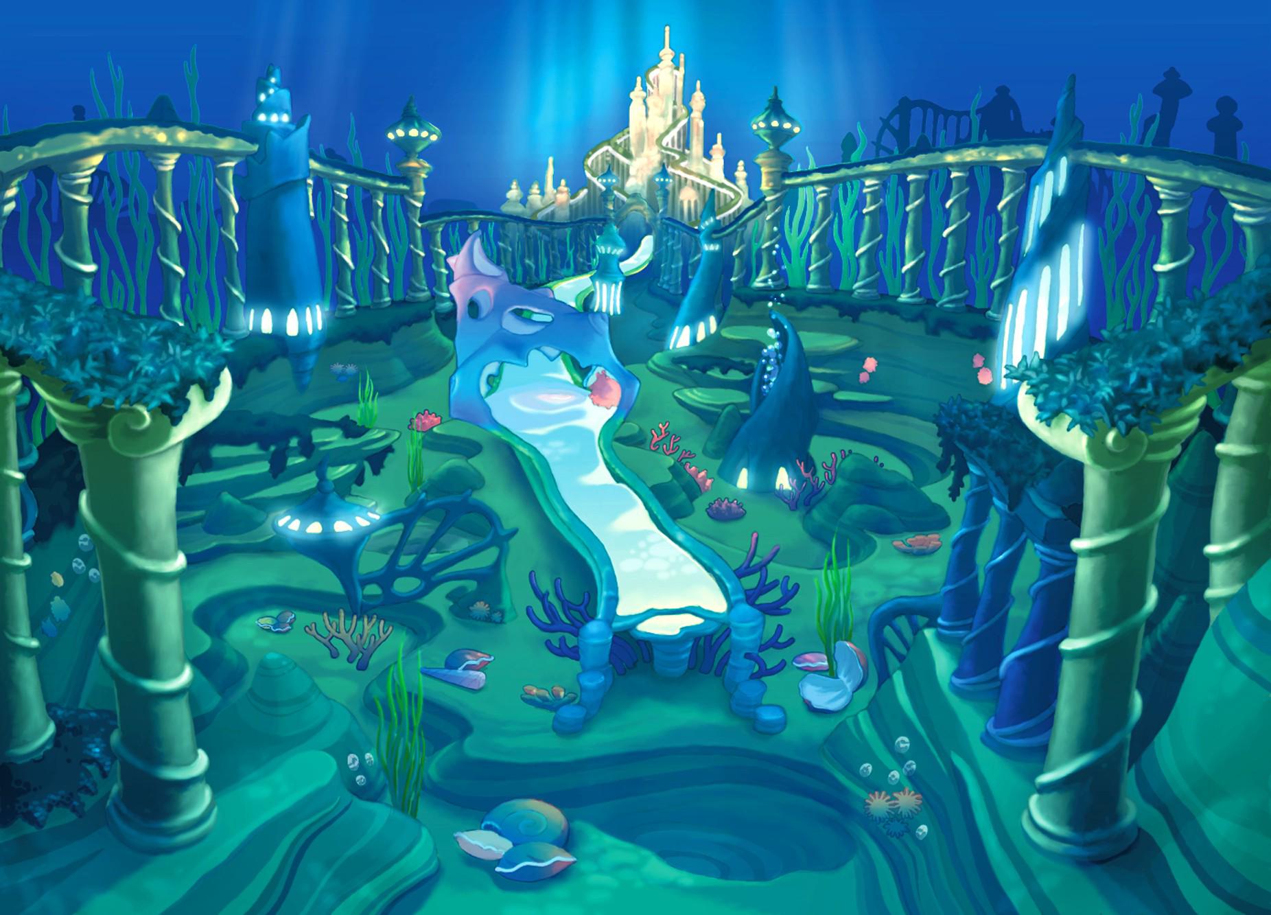 Underwater Mermaid Castle Image - Atlantica- Tri...