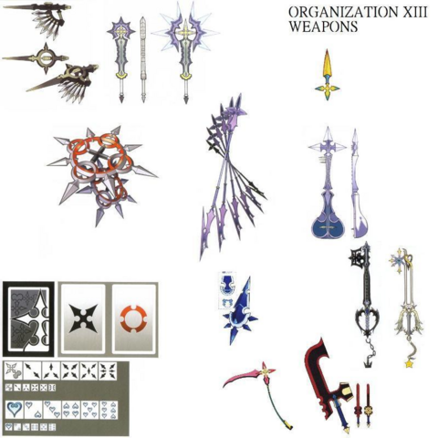 File:Organization XIII's Weapons (Art) KHII.png