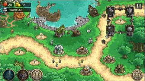 Kingdom Rush Origins Gameplay Gray Ravens Veteran 3 Stars