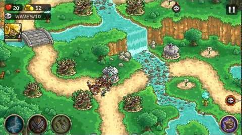 Kingdom Rush Origins Gameplay Waterfalls Trail Veteran 3 Stars