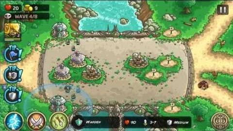 Kingdom Rush Origins Gameplay The High Cross Veteran 3 Stars