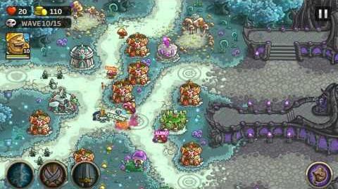 Kingdom Rush Origins Gameplay The Unseelie Court Veteran 3 Stars