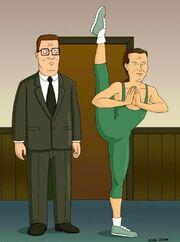 Hank's yoga instructor