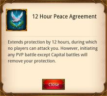 12 Hour Peace Agreement