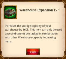 Warehouse Expansion level 1