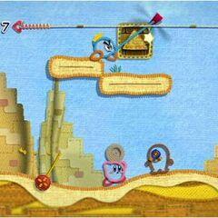 Príncipe Hilván y Kirby en el desierto.