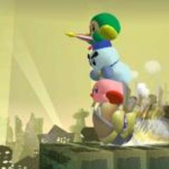 Kirby, un Wheelie, un <a href=