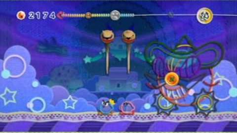Wii Kirby's Epic Yarn - Final Boss Yin-Yarn Ending