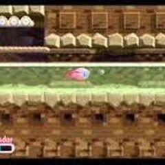 Kirby nadando en la fase 4