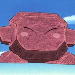 Kirby Piedra en el anime.
