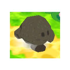 Kirby caminando con la habilidad Piedra en <a href=
