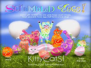 KITTYCATS SCRAMBLED EGGS AD