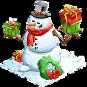 Holiday snowman last