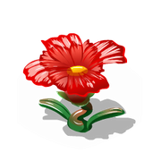 Glass flower red premium last
