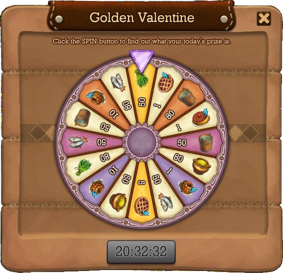 Golden valentine spin2
