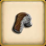 Fur hat framed