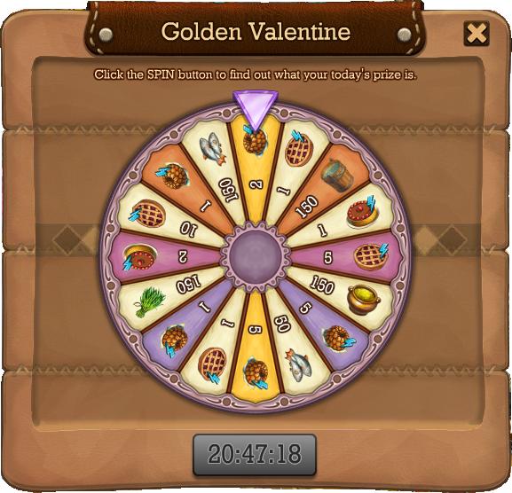 Golden valentine spin4