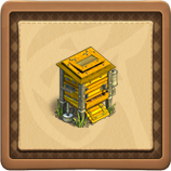 Golden incubator framed