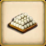 Chicken egg tray framed
