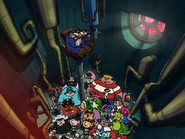 Mr. Boss and his Villains in the Submarine