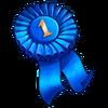 Winner ribbon blue