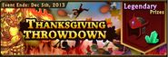 Thanksgiving Throwdown banner