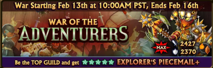 War of the Adventurers Banner