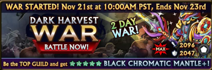 Dark Harvest War