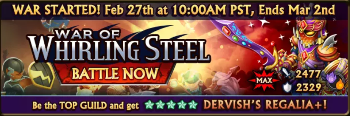 War of Whirling Steel Banner