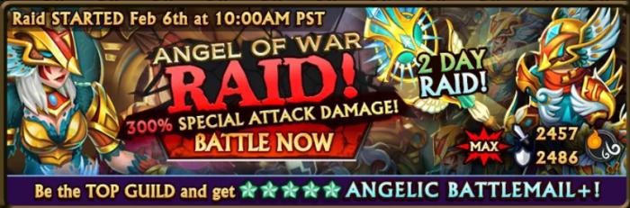 Angel of War Raid Banner