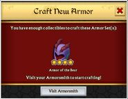 Craft new armor of the bear