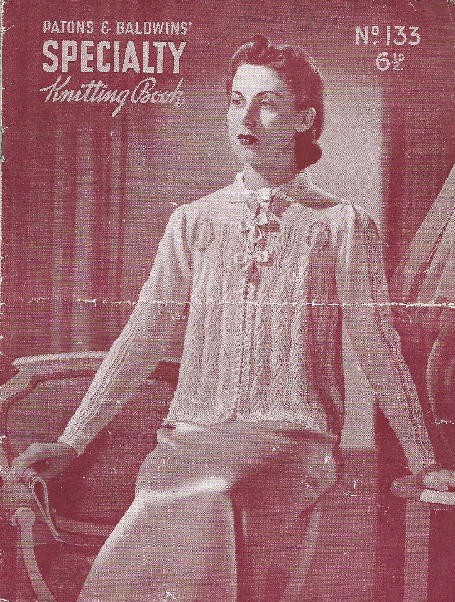 Patons Knitting Pattern Archive : Patons and Baldwins Specialty Knitting Book No.133 Knitting and Croche...