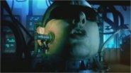 Shaun Ryder in DARE as the giant disembodied head