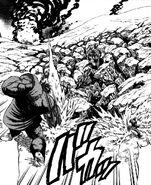 Homura burying his father and Hakai