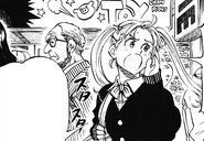 Hinako trying to find Tsukimi
