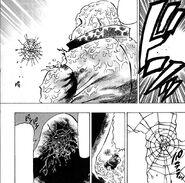 Kosuga surprised by Raionji's attack