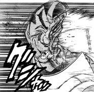 Akira punching Hakai