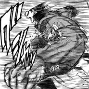 Akira hitting Shiori with Wild Tailer