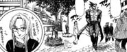 Hinako in disguise following Akira