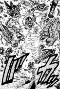 Hakai Banchou breaking free from Kai's skeleton